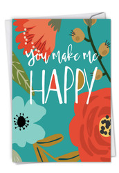 Optimisms - Make Me Happy, Printed Anniversary Note Card - C6631JANG