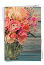 Full Blooms, Printed Anniversary Note Card - C6553FANG
