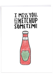 Fun Puns, Extra Large Miss You Note Card - J2975FMYG