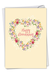 Heartfelt Thanks, Printed Anniversary Greeting Card - C6578AANG