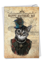 C6554DMD - Steampunk Cats: Note Card