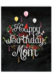 J6479CBM - Chalk And Roses: Giant Printed Card