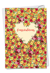 Heartfelt Thanks, Printed Engagement Greeting Card - C6578JENG