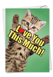 C6610HFD - Cat Love You This Much: Paper Card