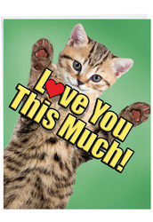 J6610HFD - Cat Love You This Much: Large Printed Card
