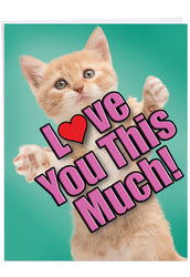 J6610GMD - Cat Love You This Much: Big Greeting Card
