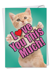 C6610GMD - Cat Love You This Much: Printed Card
