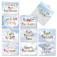 Bunches Of Well Wishes, Assorted Set Of Mini Get Well Note Cards - AM2359GWG