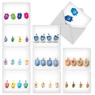 M5008 - Great Dreidels: Mixed Set of 10 Cards