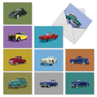Vintage Vehicles, Assorted Set Of Mini Blank Greeting Cards - AM4182OCB