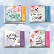Floral Condolences, Assorted Set Of Mini Square-Top Blank Note Cards - AMQ4255SMB