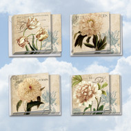 MQ4605TY - Painted Peonies: Square-Top Assorted Set of 12 Cards