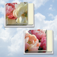 Peony Passion, Assorted Set Of Mini Square-Top Sympathy Note Cards - AMQ4606SMG