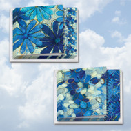 MQ4607TY - Blue Blooms: Square-Top Assorted Set of 12 Cards