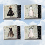MQ4608OC - Dress Forms: Square-Top Mixed Set of 12 Cards
