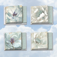 MQ4611SM - Peaceful Petals: Square-Top Mixed Set of 12 Cards