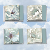 MQ4611GW - Peaceful Petals: Square-Top Assorted Set of 12 Cards