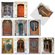 Art Nouveau Doors, Assorted Set Of Mini Blank Note Cards - AM4624OCB