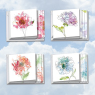 Basic Blooms, Assorted Set Of Mini Square-Top Sympathy Greeting Cards - AMQ4627SMG