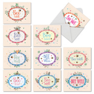 Bee Well, Assorted Set Of Mini Get Well Greeting Cards - AM6548GWG