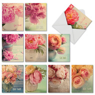 Full Blooms, Assorted Set Of Mini Blank Note Cards - AM6553GWB