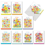 Garden Delights, Assorted Set Of Mini Get Well Greeting Cards - AM6562GWG