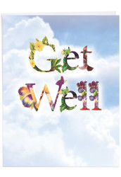 Bunches Of Well Wishes, Jumbo Get Well Note Card - J2359CGWG