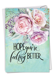 C4214CGW - Get Well Florals: Printed Card