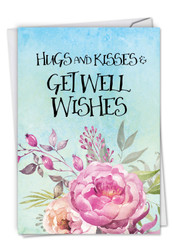C4214EGW - Get Well Florals: Greeting Card