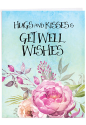Get Well Florals, Extra Large Get Well Note Card - J4214EGWG
