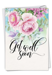 C4214HGW - Get Well Florals: Note Card