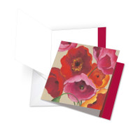 Painted Poppies, Jumbo Square-Top Thank You Greeting Card - JQ4548ATYG