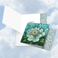 CQ4594ATY - Blue Magnolia: Square-Top Printed Card