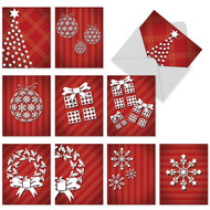 Holiday Dimensions Christmas Greeting Cards - 10 Pack