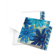 Blue Blooms, Jumbo Square-Top Thank You Greeting Card - JQ4607BTYG