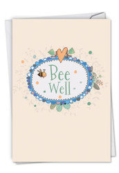 C6548CGW - Bee Well: Note Card
