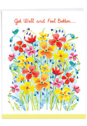 Garden Delights, Extra Large Get Well Note Card - J6562JGWG