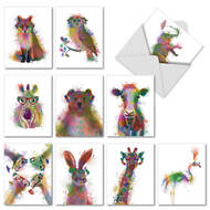 AM4948TY - Funky Rainbow Wildlife: Assorted Set