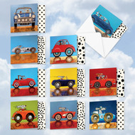 MQ4977OC - See Spot Drive: Square-Top Assorted Set of 10 Cards