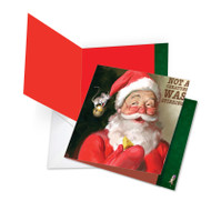 JQ4943AXS - Santa Mouse - Stirring: Square-Top Over-sized Greeting Card