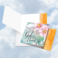 CQ4255ASM - Floral Condolences - Eternal Life: Square-Top Paper Card