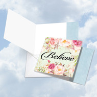 CQ4969JOC - In A Word - Believe: Square-Top Greeting Card