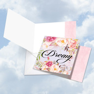 CQ4969HOC - In A Word - Dream: Square-Top Greeting Card