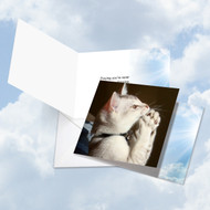 CQ4955FOC - Paws And Prayers - Clapper: Square-Top Printed Card