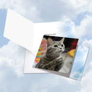 CQ4955GOC - Paws And Prayers - Lego: Square-Top Greeting Card