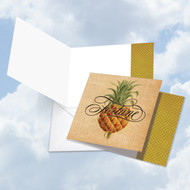 CQ4938FOC - Pineapple Plenty - Fortune: Square-Top Printed Card