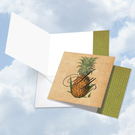CQ4938COC - Pineapple Plenty - Joy: Square-Top Greeting Card