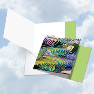 CQ4942ATY - Prismatic Rice Paddies: Square-Top Greeting Card