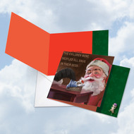 CQ4943DXS - Santa Mouse Snug: Square-Top Greeting Card