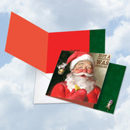 CQ4943AXS - Santa Mouse - Stirring: Square-Top Printed Card